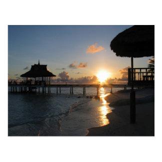 Sunset Maldives Postcard