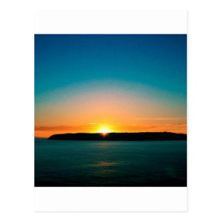 Sunset Mana Island Postcard