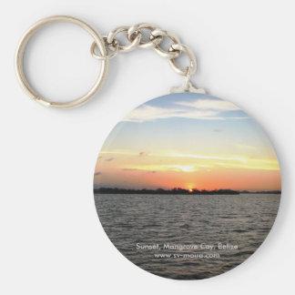 Sunset, Mangrove Cay, Belize Keychain