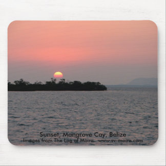 Sunset, Mangrove Cay, Belize Mouse Pad