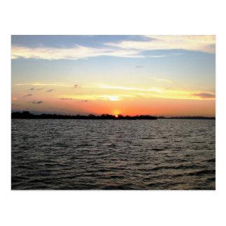Sunset, Mangrove Cay, Belize Postcard