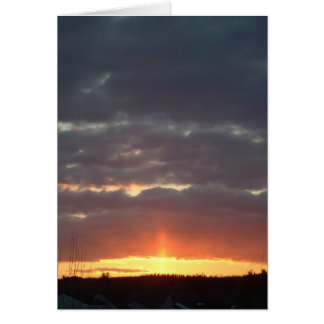 Sunset, March 17 Card