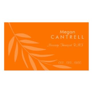 Sunset Massage Therapist Biz Card Business Card Template