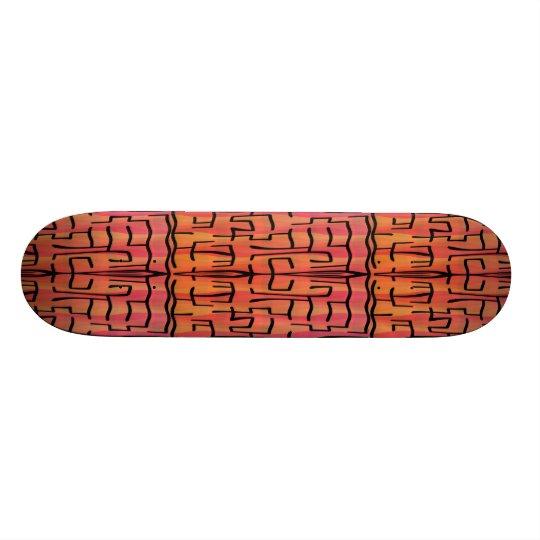 Sunset Maze - Abstract Skateboard