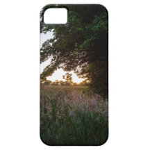 Sunset meadow in Cornwall iPhone 5 Covers