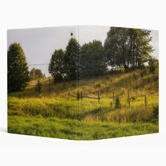 Sunset Meadow Landscape Photograph Vinyl Binders