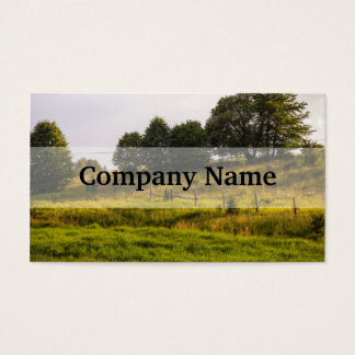 Sunset Meadow Landscape Photograph Business Card
