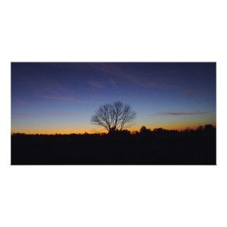 Sunset Meditation Photo Greeting Card
