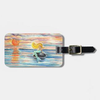 Sunset Mermaid Luggage Tag