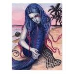 Sunset Mermaid Postcard