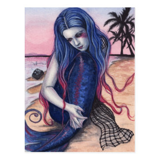 Sunset Mermaid Postcard