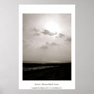 Sunset, Mersea Island, Essex, ENGLAND Poster