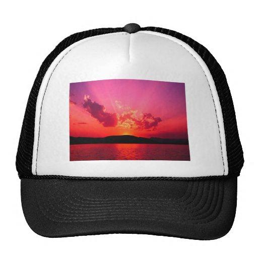 Sunset Mesh Hats