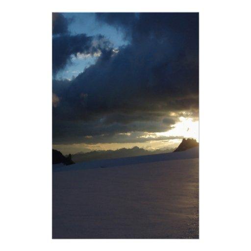 Sunset Middle Of Dusk Stationery Design