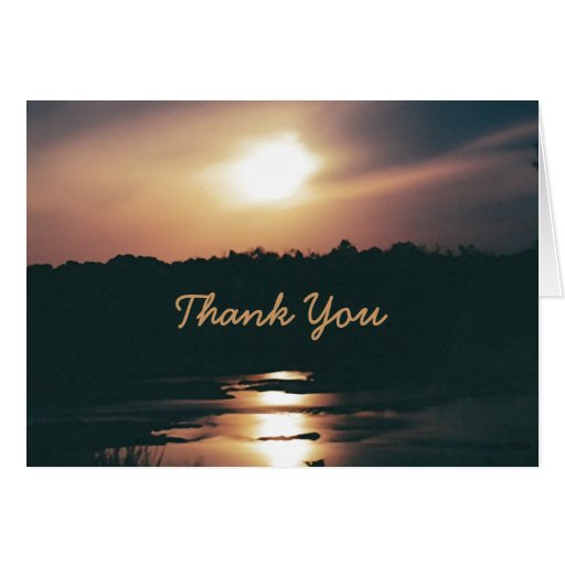 SUNSET MIDNIGHT~THANK YOU greeting card