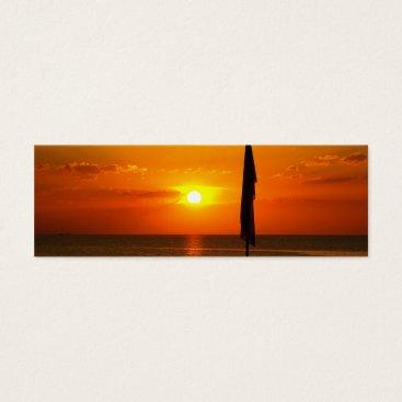 Beach Themed Sunset Mini Business Card