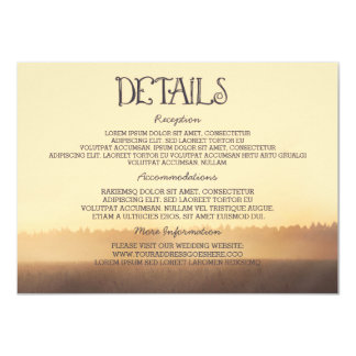Sunset Misty Evening Wedding Guest Information Card