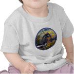 Sunset(Monet) - Black Arabian Horse T-shirt