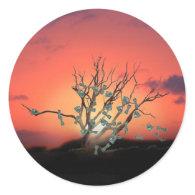 Sunset Money Tree on a Windy Day Sticker