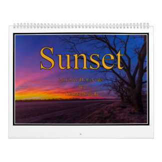 Sunset Monthly Calendar By Tom Minutolo