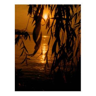 Sunset Montreux postcard