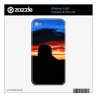 Sunset, Monument Valley, UT iPhone 4S Decal