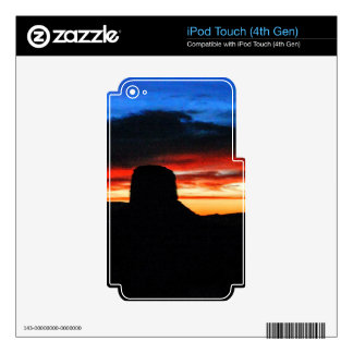 Sunset, Monument Valley, UT iPod Touch 4G Decal