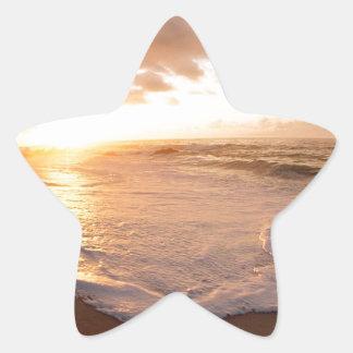 Sunset Moorea Island Polynesia Star Sticker