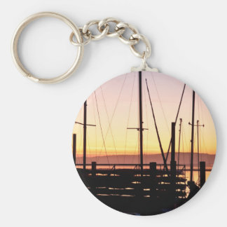 Sunset Morro Bay Keychain