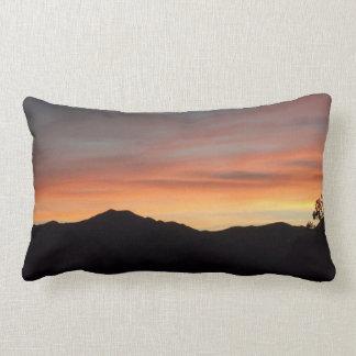 Sunset Mountain Silhouette Scenic Nature Throw Pillows