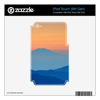 Sunset Mountain Decals For iPod Touch 4G