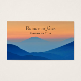 Sunset Mountains Abstract Landscape Business Card