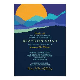 "SUNSET & MOUNTAINS Bar Bat Mitzvah Invitation 5"" X 7"" Invitation Card"