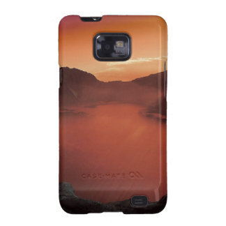 Sunset Mountains Lake Destiny Nature Galaxy SII Cover