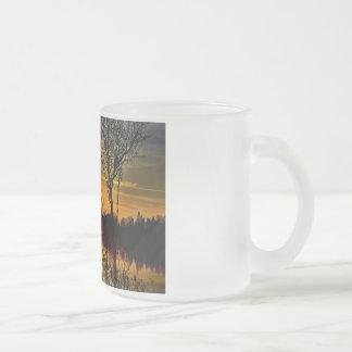 Sunset Frosted Glass Mug