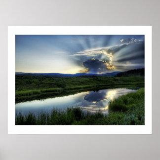 Sunset Mushroom Cloud Poster
