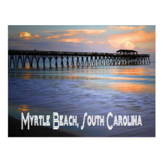 Sunset Myrtle Beach, South Carolina Postcard, USA Postcard