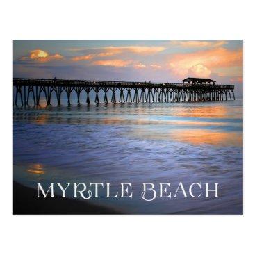 USA Themed Sunset Myrtle Beach, South Carolina Postcard, USA Postcard
