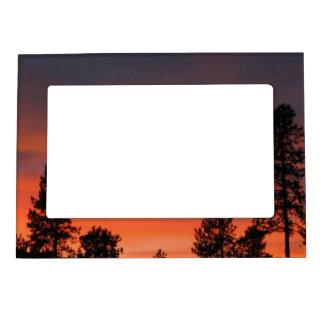 Sunset N Trees Magnetic Photo Frame