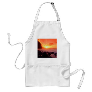 Sunset Napali Kauai Hawaii Adult Apron