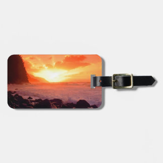 Sunset Napali Kauai Hawaii Luggage Tag