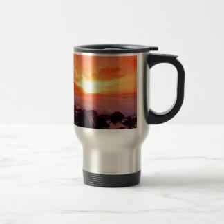 Sunset Napali Kauai Hawaii Travel Mug