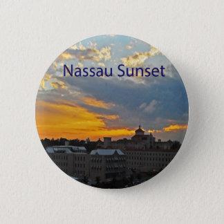Sunset, Nassau Bahamas Pinback Button