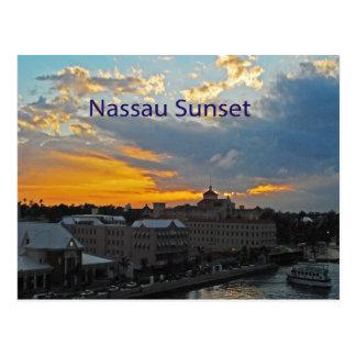 Sunset, Nassau Bahamas Postcard