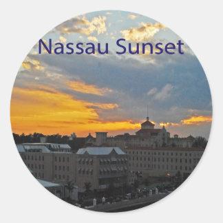 Sunset, Nassau Bahamas Round Stickers