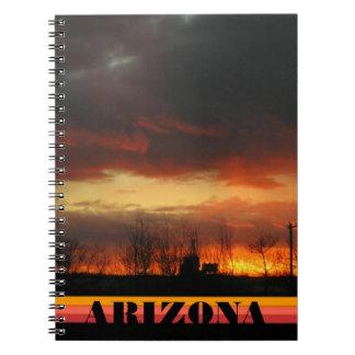 Sunset nature arizona landscape natural notebook