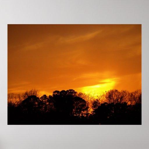 Sunset near NAS Oceana, VA. Poster