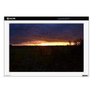 """Sunset Near Southwold 17"""" Laptop Skins"""
