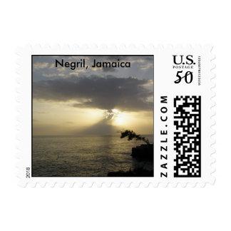 Sunset: Negril Jamaica Postage