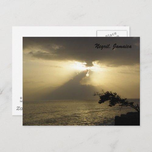 Sunset:Negril, Jamaica Postcard postcard